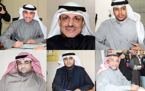 Osama Al-Tahous, Jassim Abul Al-Kandari, Abdulaziz Al-Samhan, Waleed Al-Sharrah, Khaled Al-Hamad and Taher Al-Failakawi