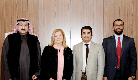 KUWAIT: (From left) Dr Waleed Al-Dahi, Consultant Endocrine & Diabetes, Mubarak Al-Kabeer Hospital, Prof Dr Nabila Abdella, Professor of Medicine & Consultant Diabetologist, Mubarak Hospital, Dr Thaier Almuaili, Consultant Internist & Diabetologist, Al-Amiri hospital and Dasman Diabetes Institute and representative from AstraZeneca.