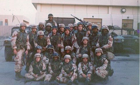 Gulf War veteran Cee Freeman's brigade in 1991.