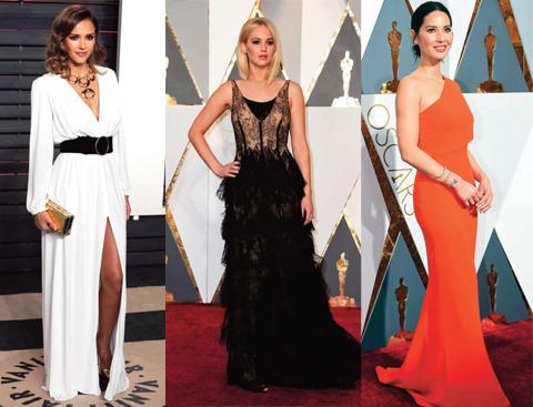 Jessica Alba, Jennifer Lawrence & Olivia Munn