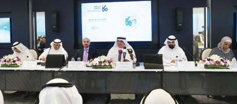 KUWAIT: KIPCO's Vice Chairman (Executive) Faisal Al-Ayyar speaks at the annual Shafafiyah (transparency) Investors' Forum yesterday