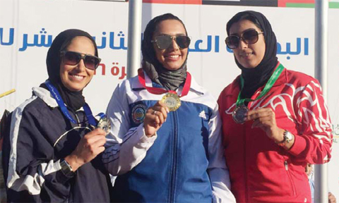 Eman Al-Shamma, Afrah Adel and Bahrain's Fatima Nasrallah