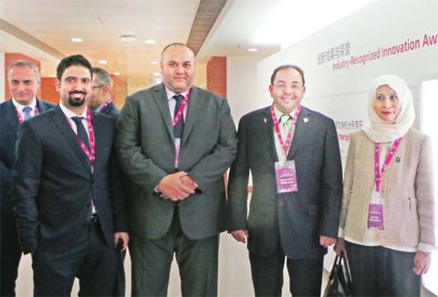 SHENZHEN: (From right to left): Zain CEO Eaman Al-Roudhan, Al-Anbaa Editor-in-Chief Yousuf Khalid Al-Marzouq, Kuwait Times Editor-in-Chief Abd Al-Rahman Al-Alyan and Al-Qabas Deputy Editor-in-Chief Abdallah Al-Mudhaf during a tour of Huawei's premises in Shenzhen.