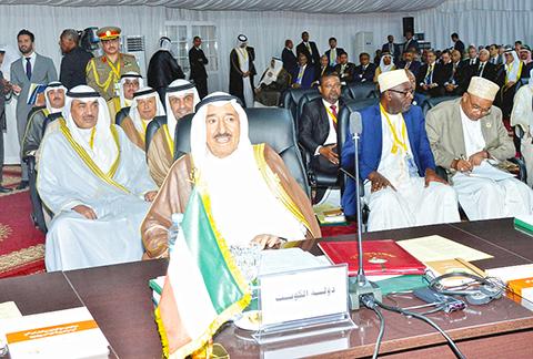NOUAKCHOTT: HH the Amir Sheikh Sabah Al-Ahmad Al-Jaber Al-Sabah is seen during the 27th Arab Summit that kicked off in the Mauritanian capital yesterday. — KUNA