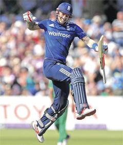 England's Alex Hales