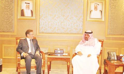 KUWAIT: Chief of the Security Bureau Sheikh Thamer Al-Ali Al-Sabah receives Nicola de Santis the head of NATO's Middle East and North Africa affairs. — KUNA