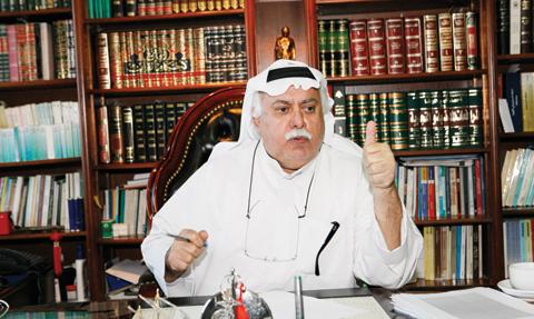KUWAIT: Second constituency candidate Salah Al-Hashim talks to Kuwait Times. —Photos by Yasser Al-Zayyat