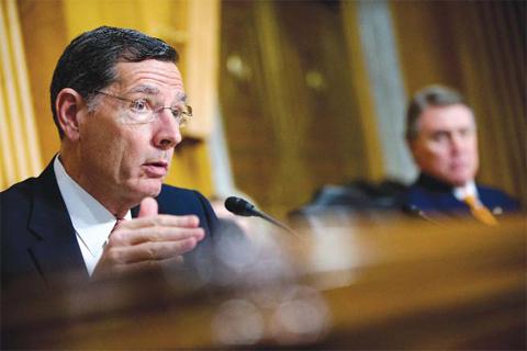 WASHINGTON: In this photo taken April 5, 2016, Sen. John Barrasso, R-Wyo. speaks on Capitol Hill. —AP