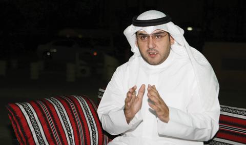 KUWAIT: Third constituency candidate Abdulkareem Al-Kandari speaks to Kuwait Times. —Photo by Joseph Shagra