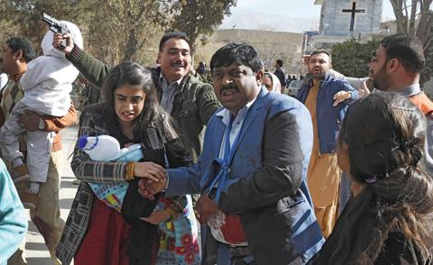 Nine killed in IS bombing of Pakistan church