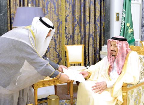 Amiri envoy hands letters to Saudi, Bahraini monarchs - Kuwait Times