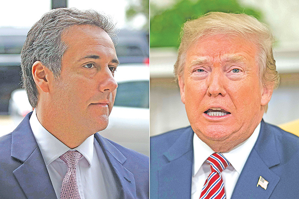 Ex-lawyer blames Trump 'dirty deeds' as he gets three years